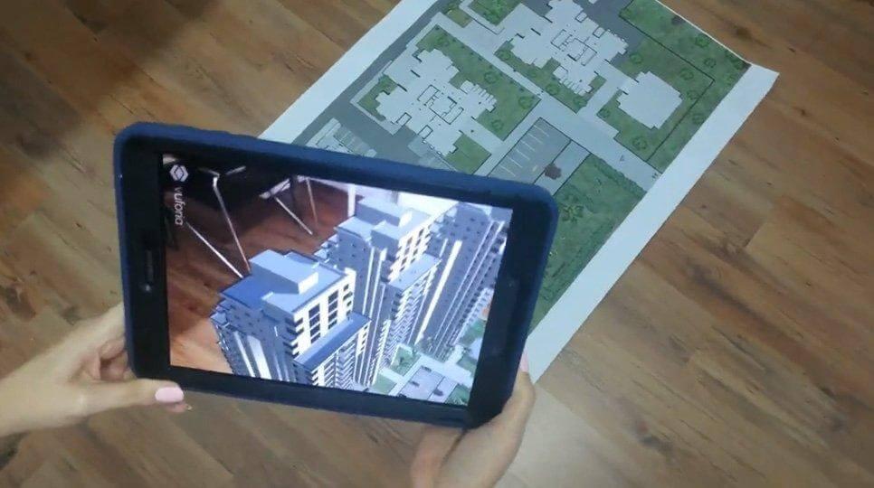 מציאות רבודה - תוכנית בניין דו מימד שהופכת לתלת מימד